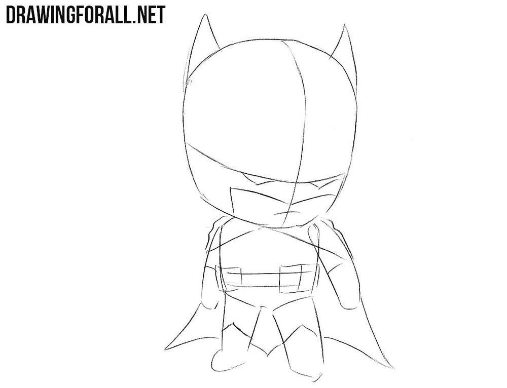 Learn to draw chibi Batman