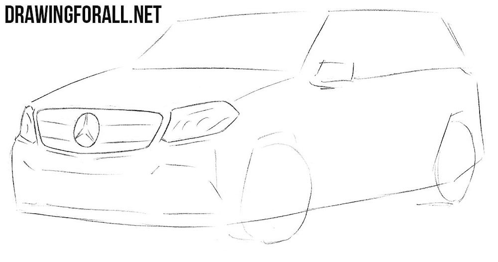 Mercedes-Benz GLS drawing tutorial