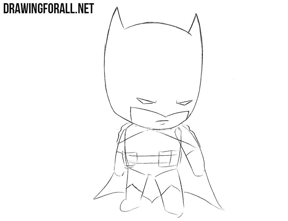 Chibi Batman drawing tutorial