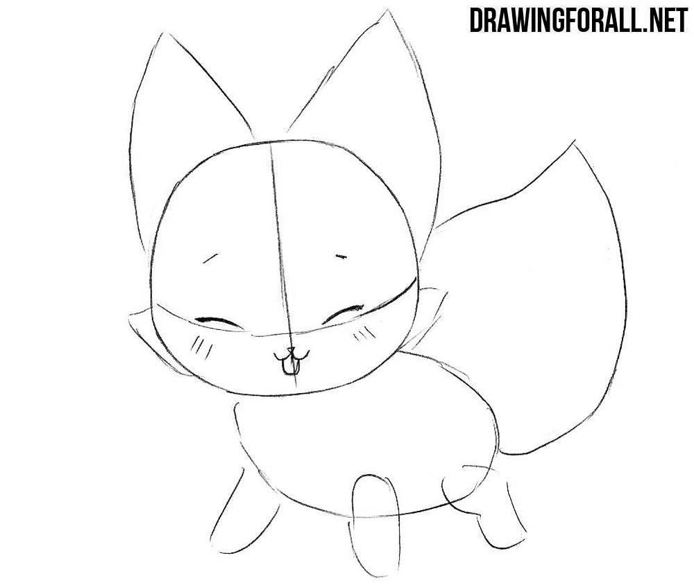Chibi fox drawing turorial