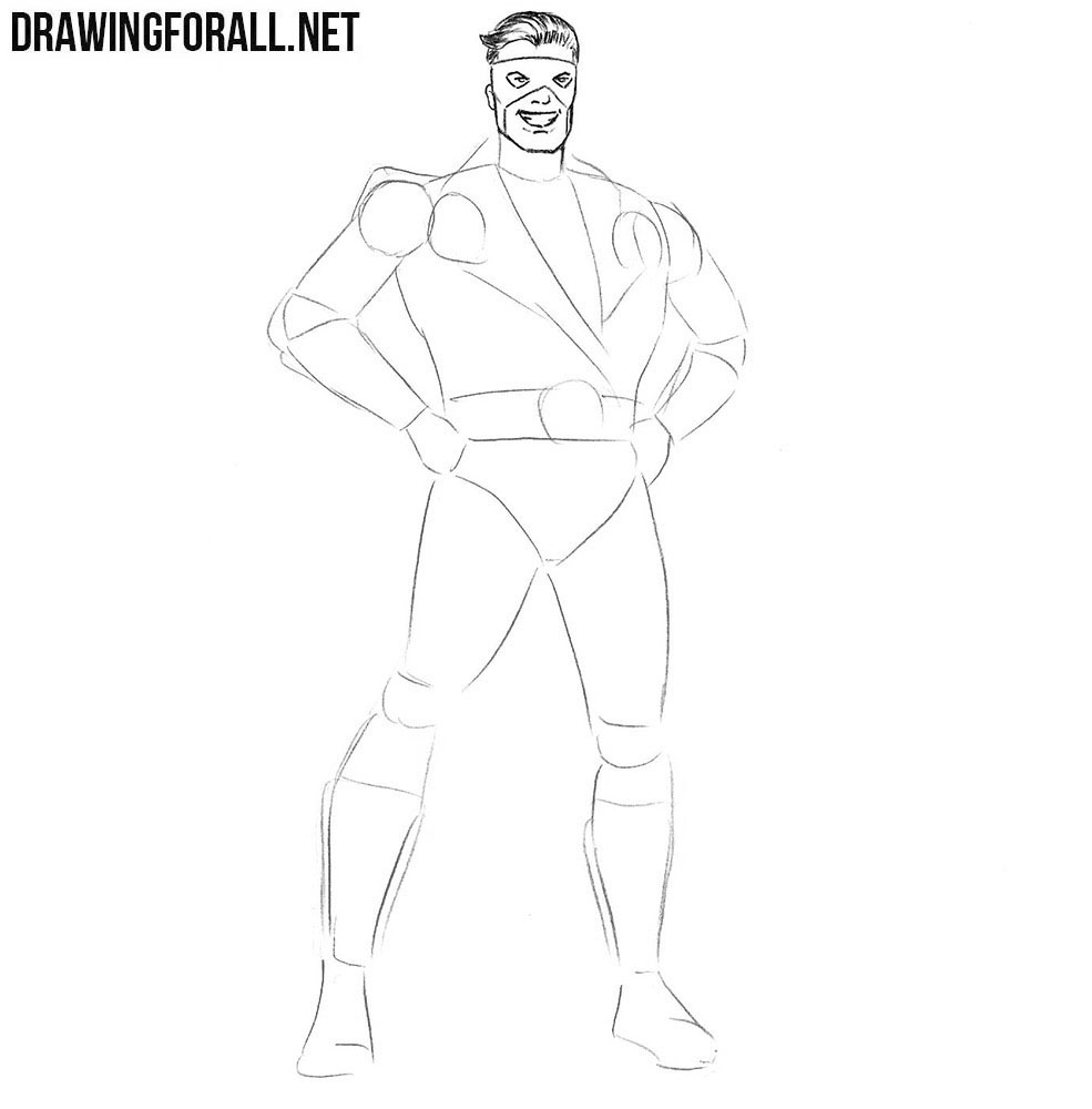 Classic Superhero drawing tutorial