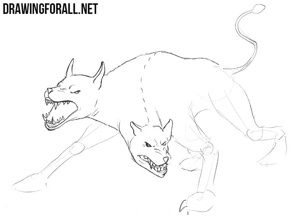 How to Draw a Monster Dog | Drawingforall net