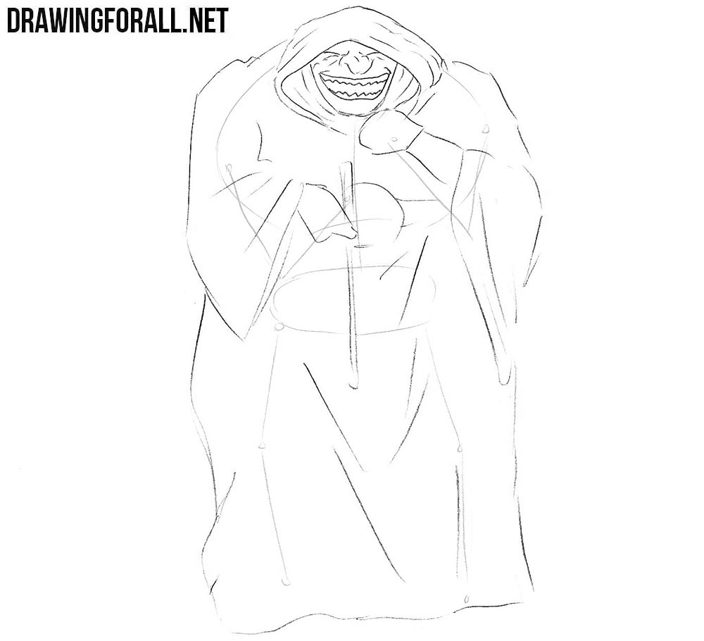 How to Draw a Comic Book Villain step by step