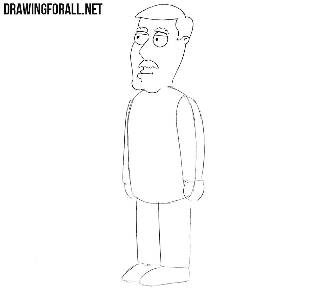How to draw Carter Pewterschmidt from the family guy