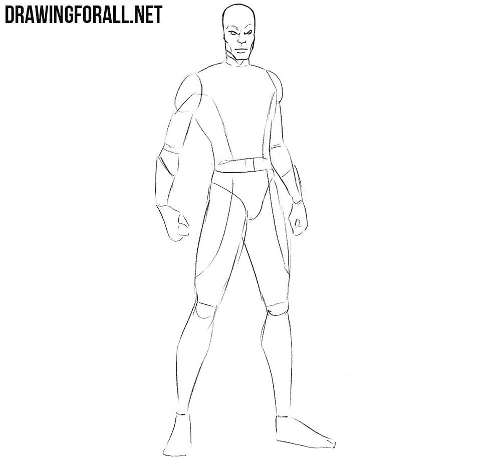 How to draw Darwin from marvel comics