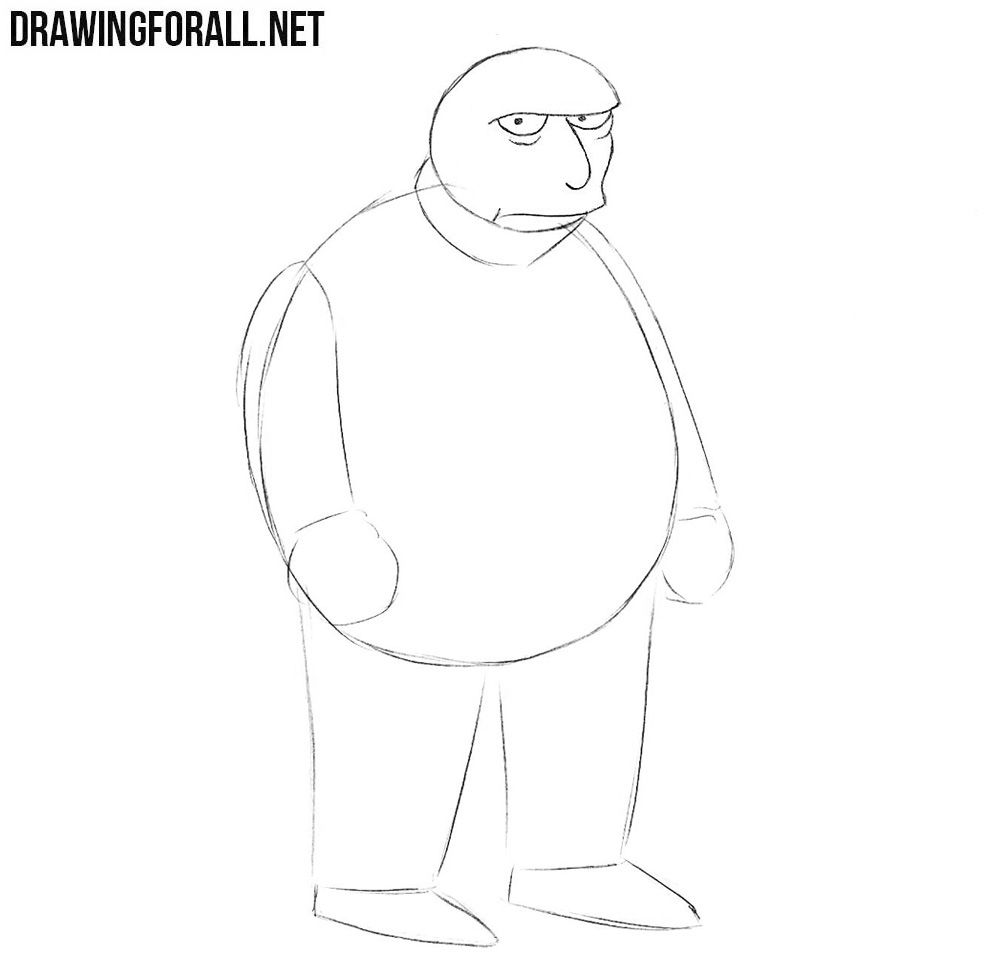How to draw Fat Tony easy