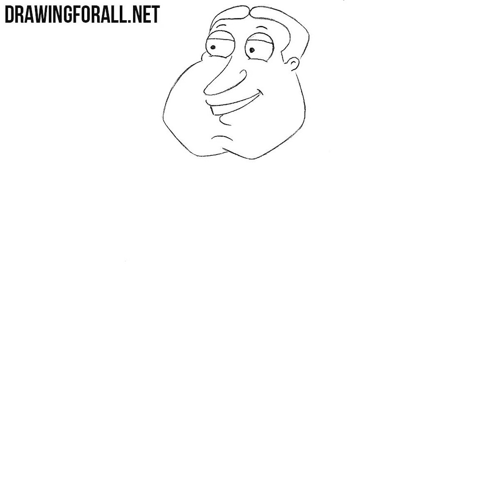 How to draw Glenn Quagmire from family guy