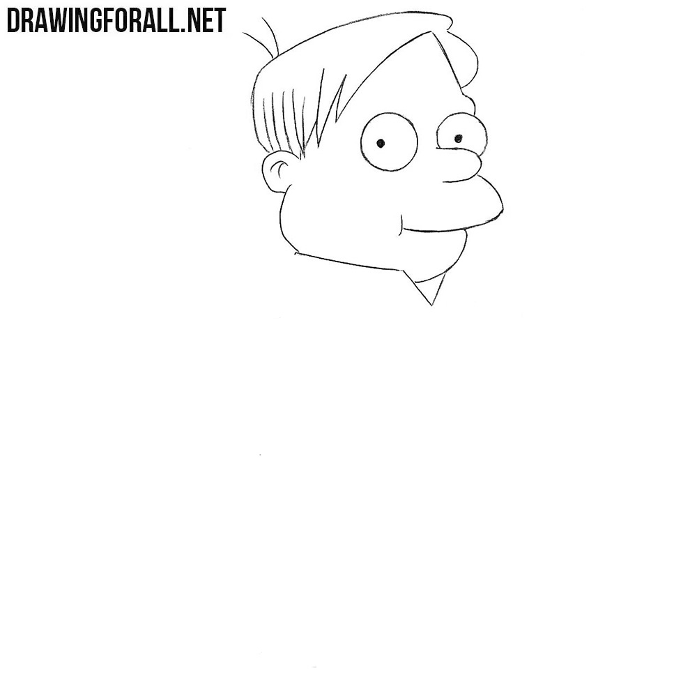 How to draw Martin Prince easy
