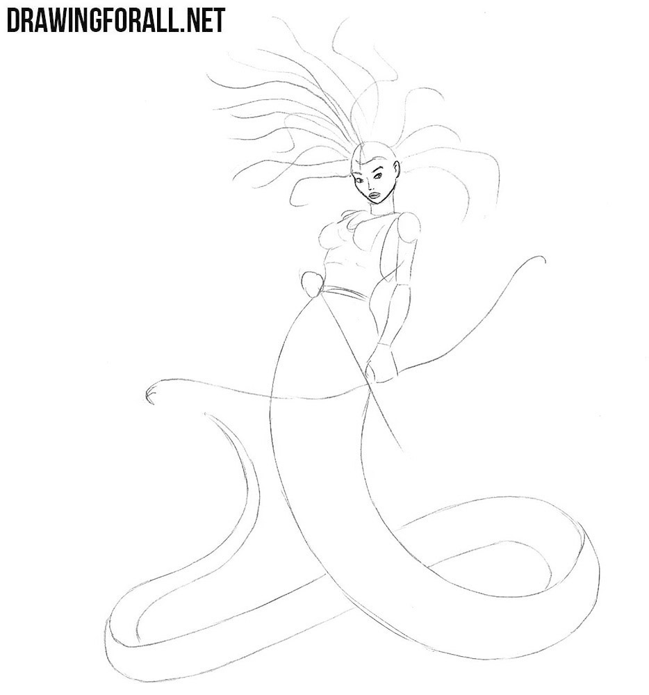 How to draw Medusa Gorgona