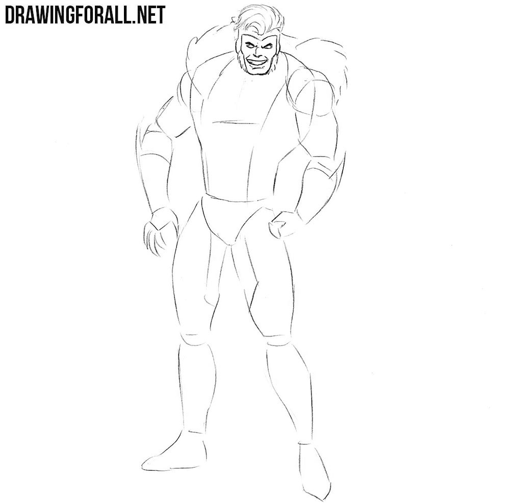 How to draw Sabretooth from comics