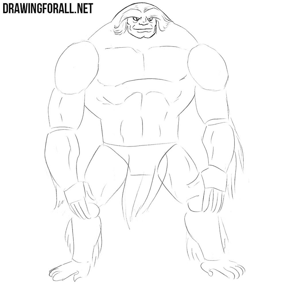 How to draw Sasquatch from marvel universe