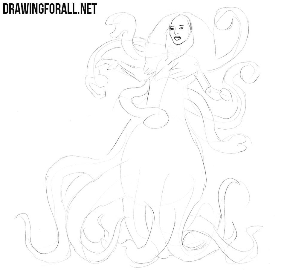 How to draw Scylla from greek myths