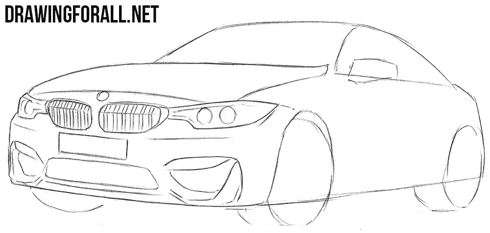 How to draw a BMW car