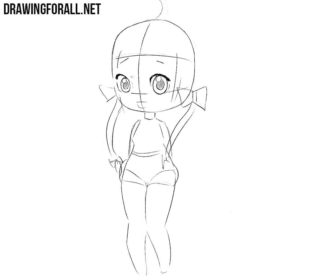 How to draw a Beautiful Chibi Girl step by step