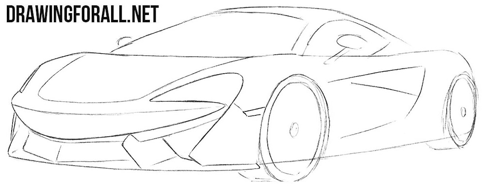 How to draw a McLaren 570s step by step