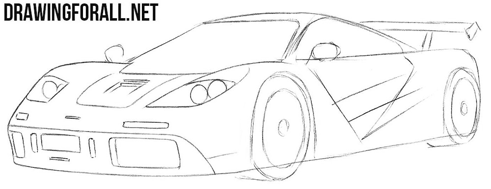 How to draw a McLaren f1 step by step