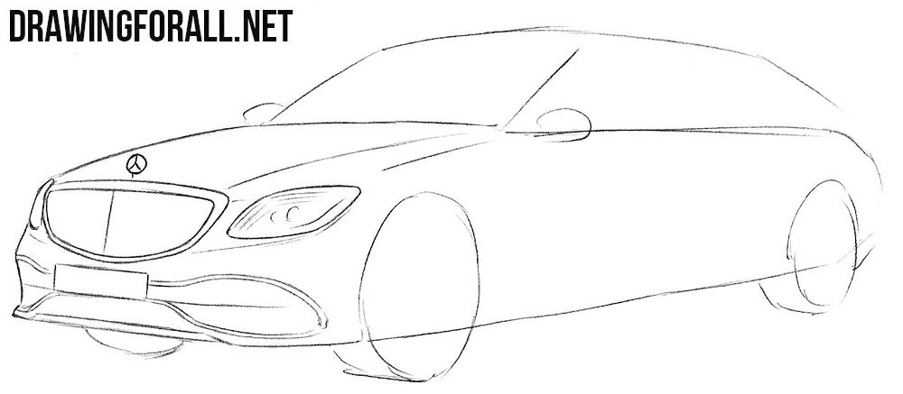 How to draw a Mercedes-Maybach step by step
