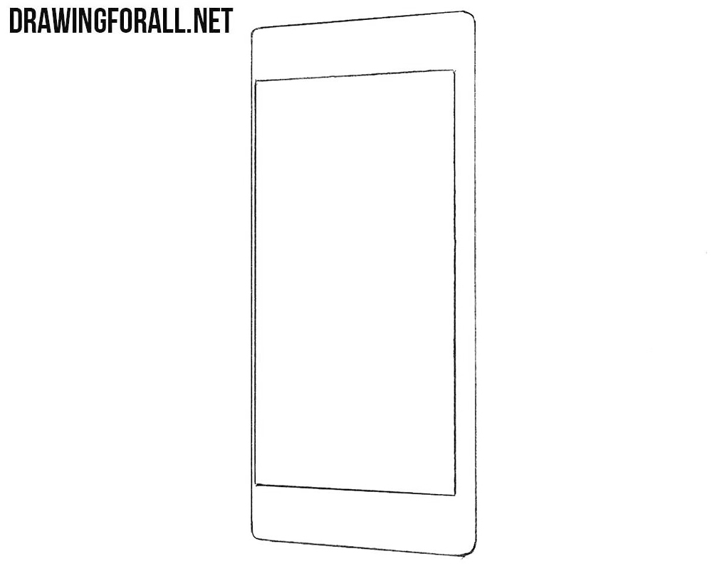 How to draw a Sony smartphone