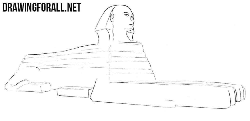 How to draw a Sphinx step by step