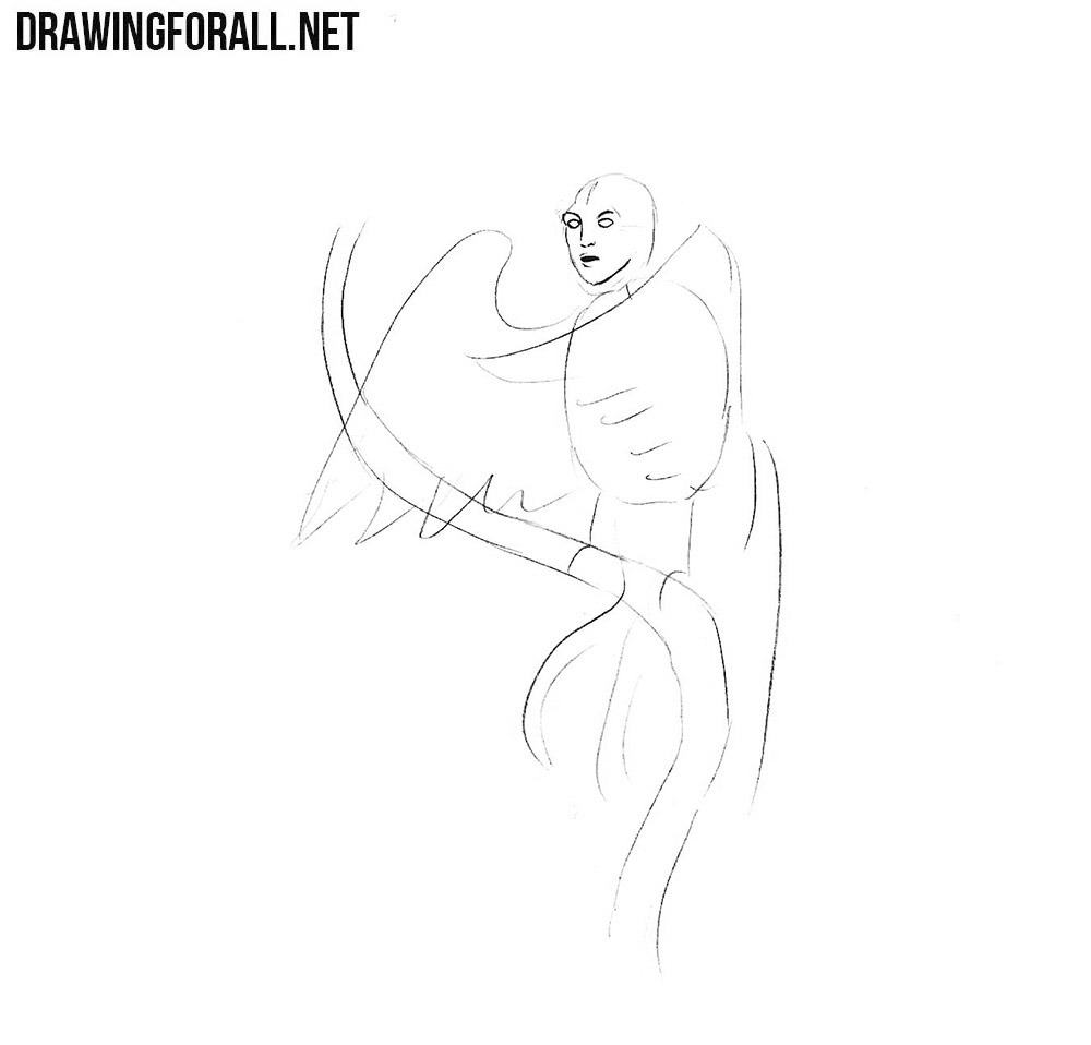 How to draw a character from slavic muths