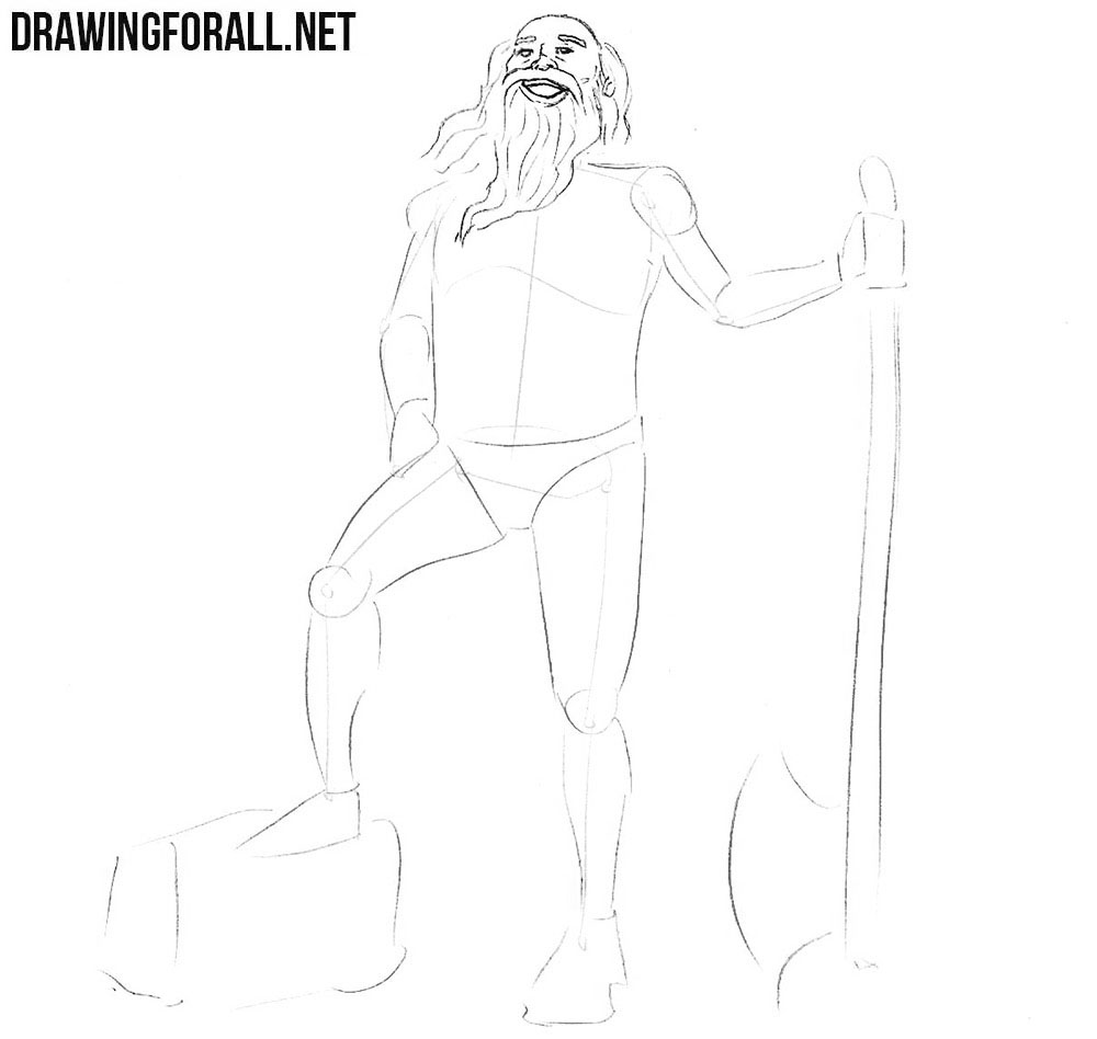 How to draw a creature from russian legends