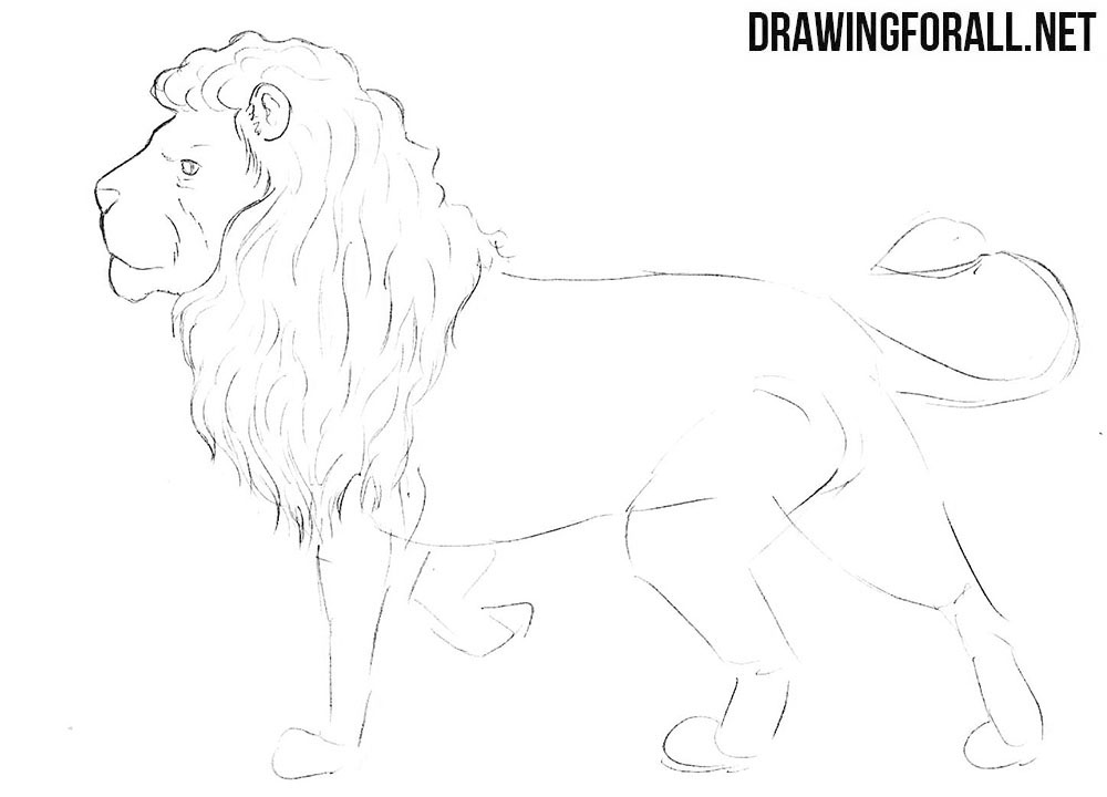 How to draw a greek myths lion