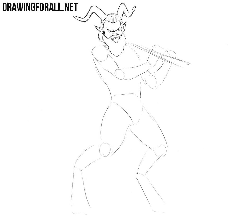 How to draw a greek myths satyr