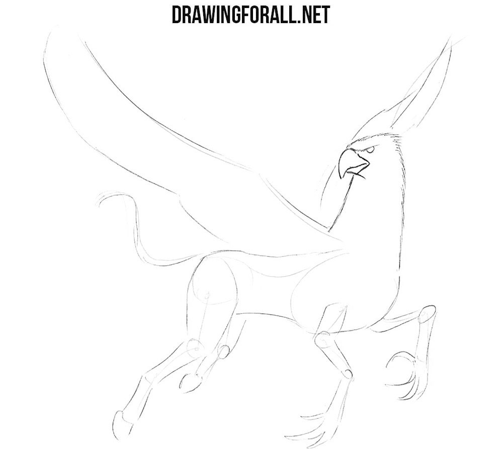 How to draw a hippogriff easy