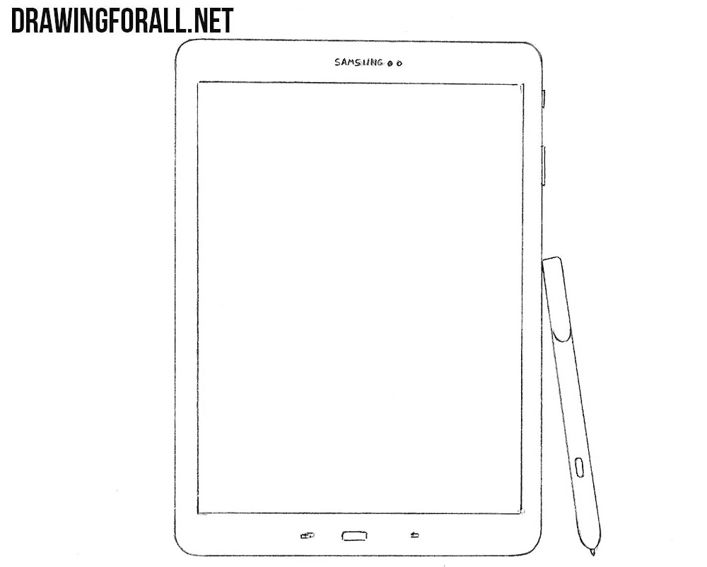How to draw a samsung tablet