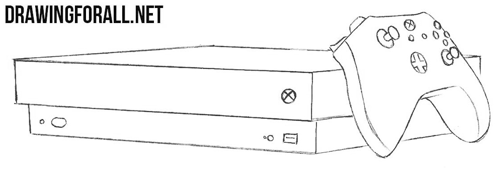 How to draw an X Box one