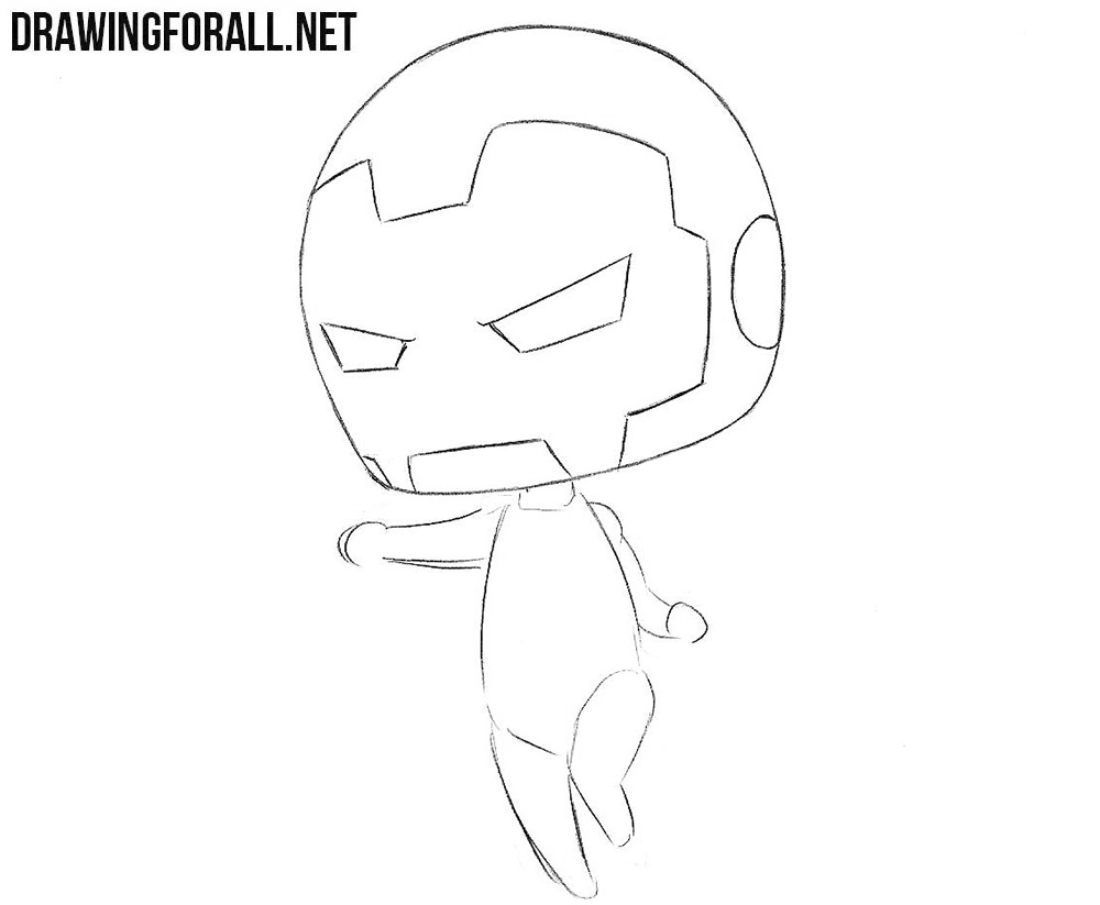 How to draw chibi avengers