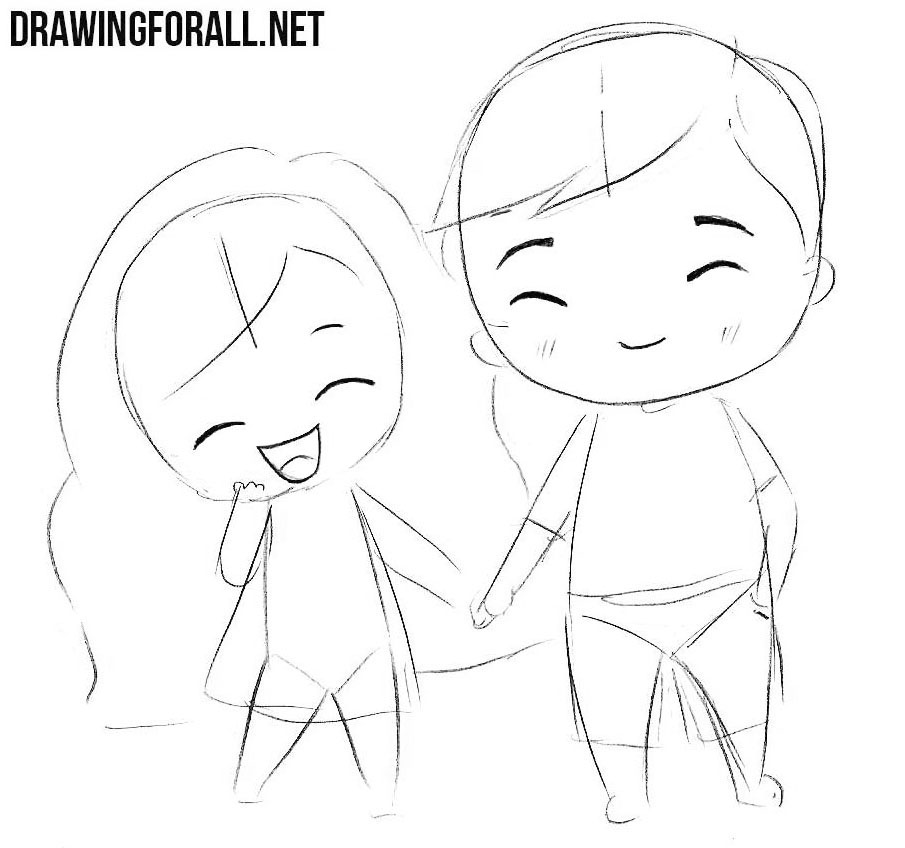 How to draw chibi boy and girl