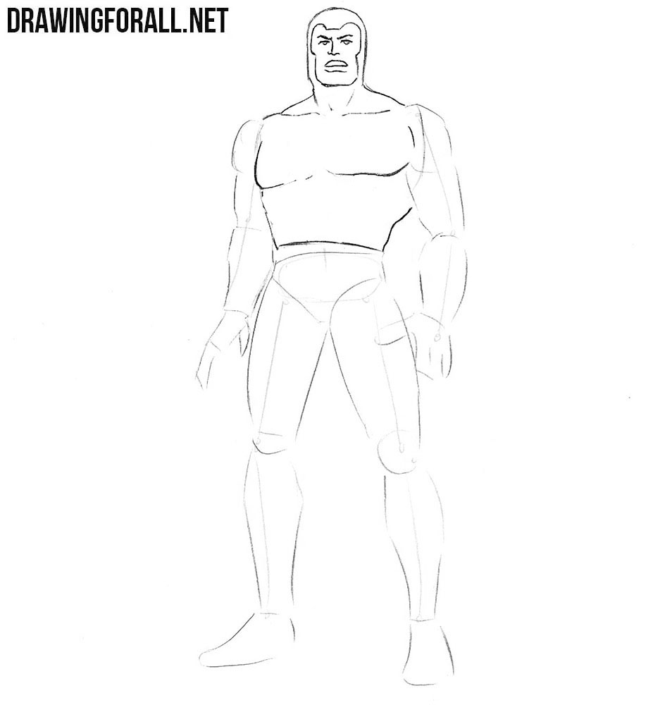 How to draw the Multiple Man step by step