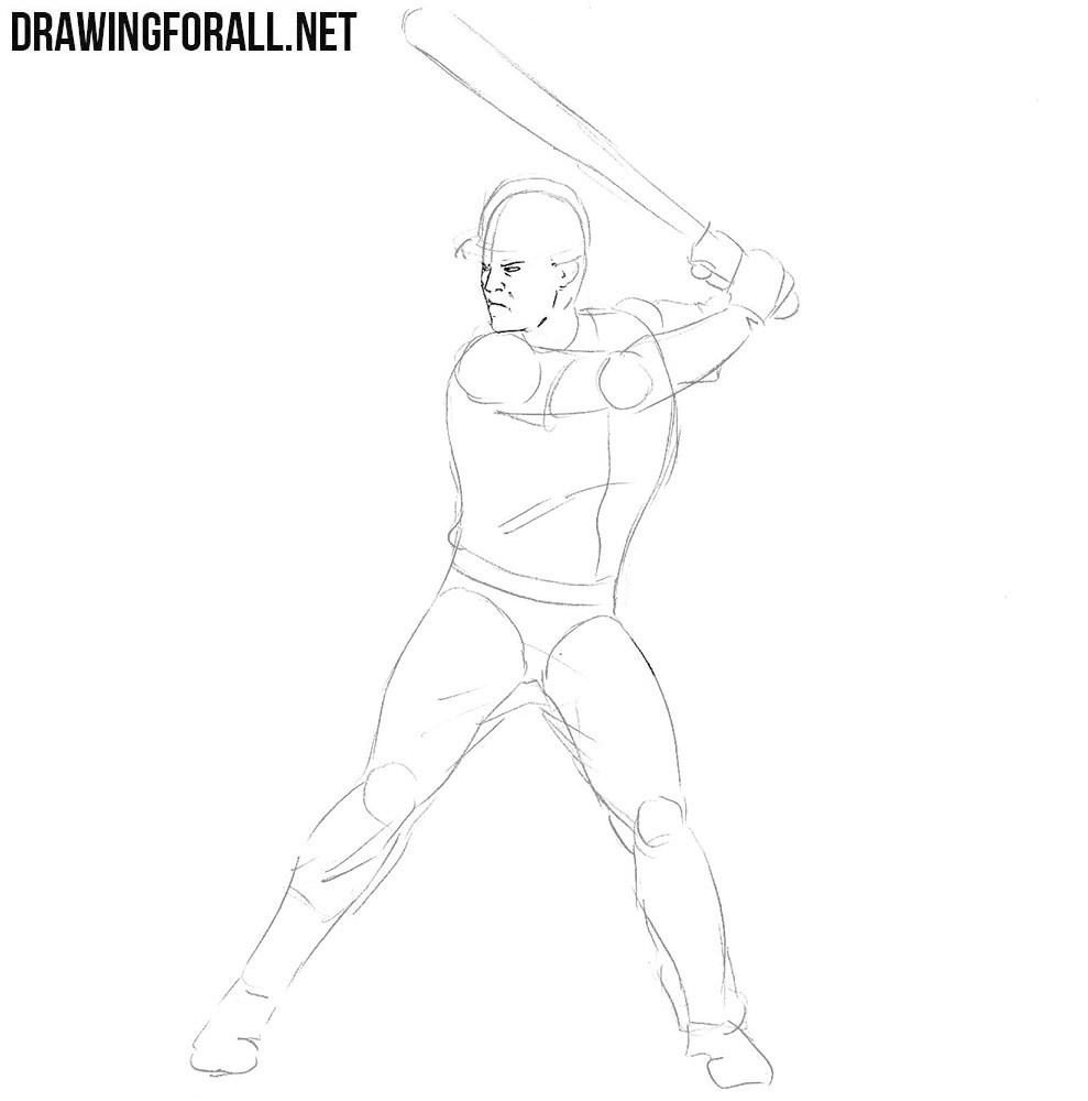How to sketch a Baseball Player