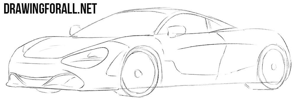 How to sketch a McLaren 720s