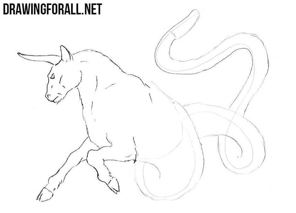 How to sketch a Ophiotaurus