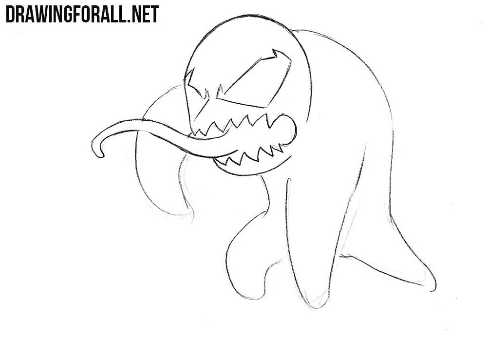 How to sketch a chibi Venom