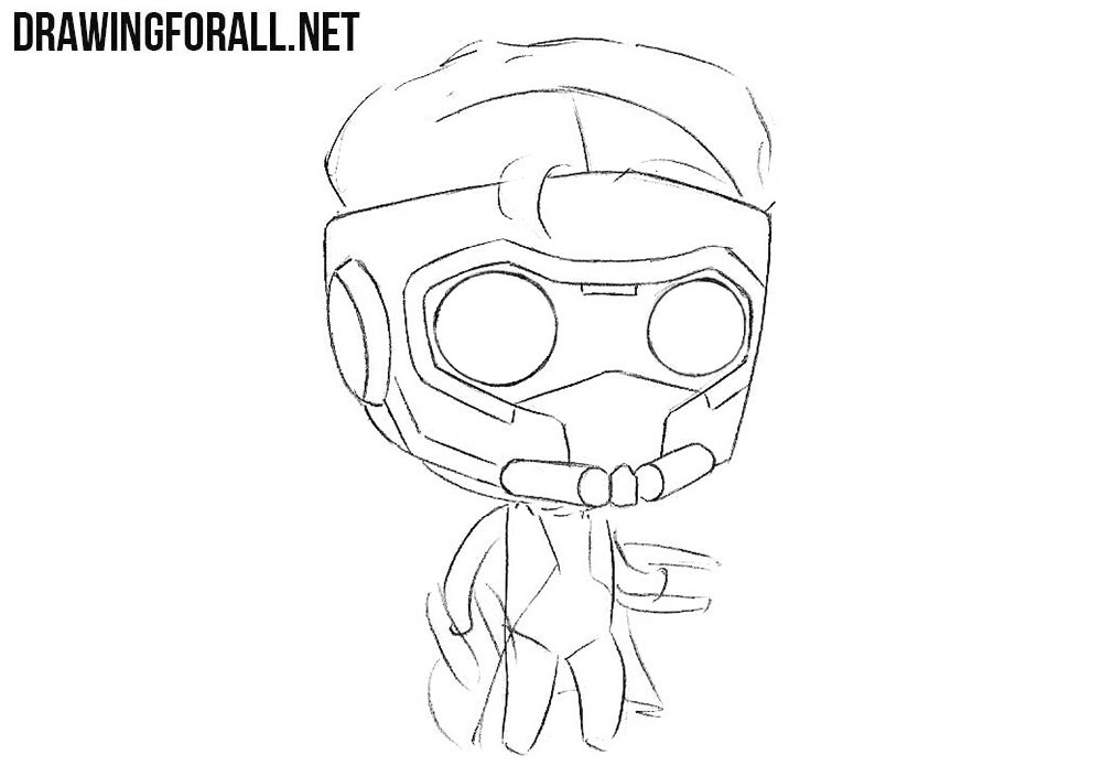 How to sketch chibi Star Lord