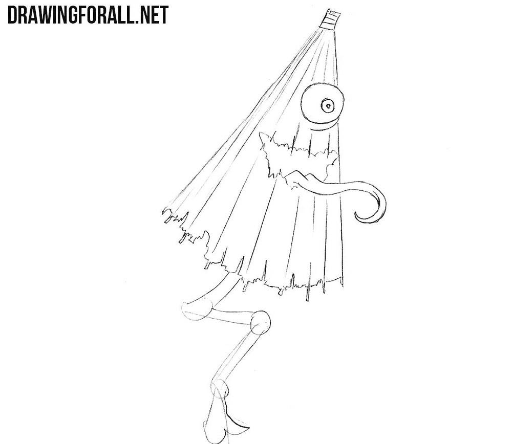 Kasa-Obake drawing tutorial