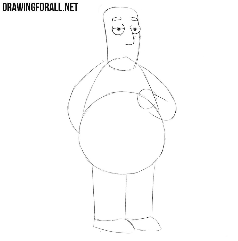 Learn how to draw Kent Brockman from the simpsons