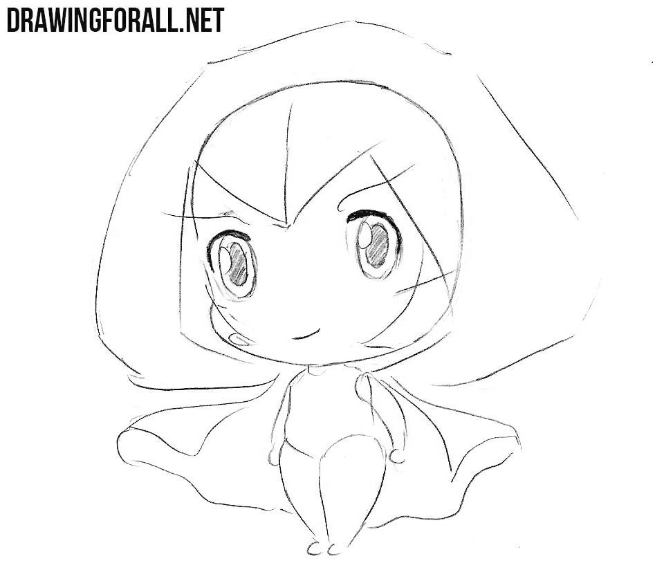 Learn how to draw a chibi witch step by step