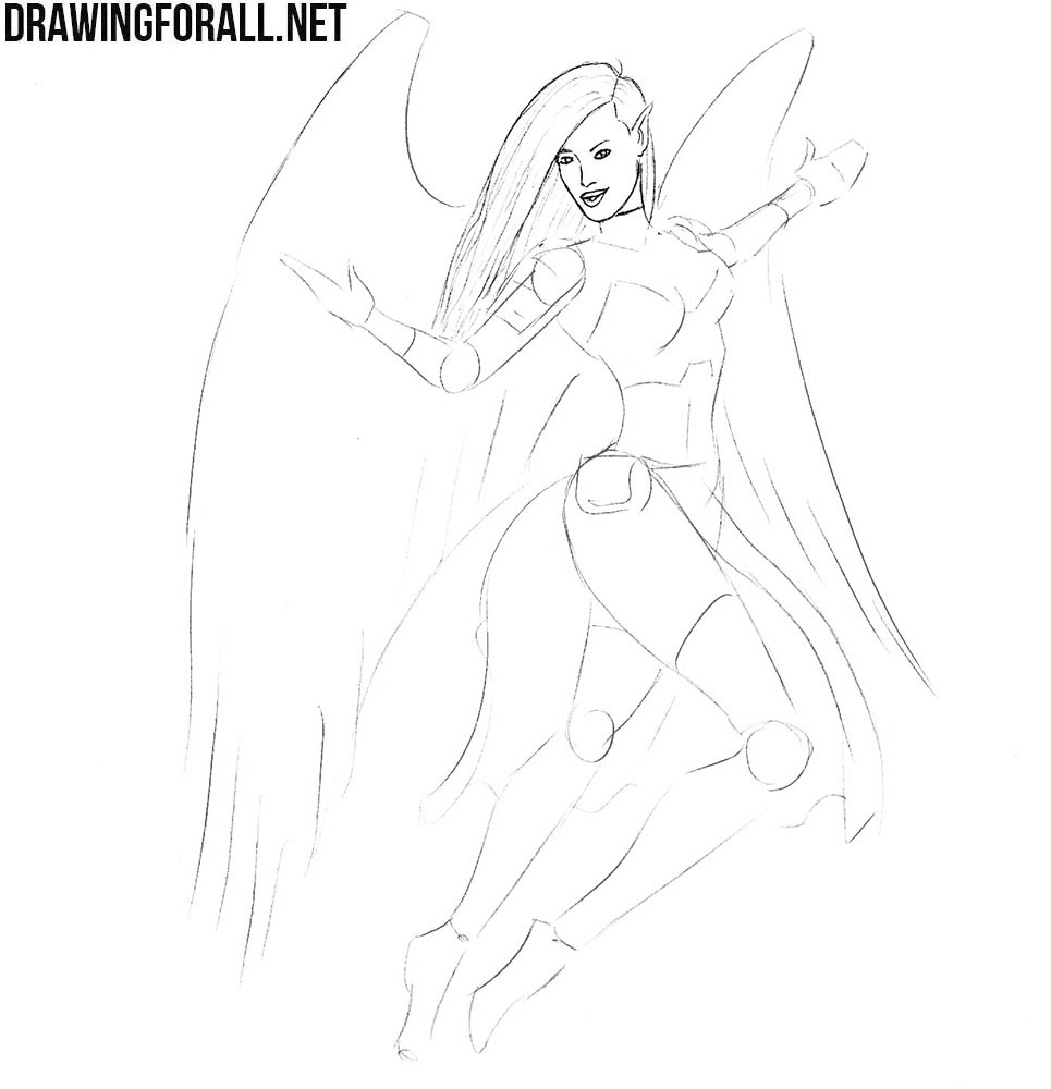Learn how to draw a mythical knight girl
