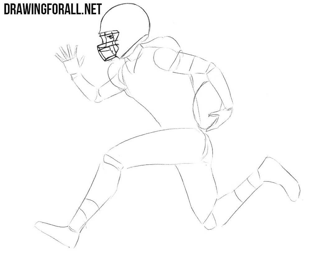 Learn how to draw an american football player