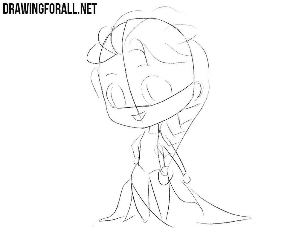 Learn to draw Chibi Elsa