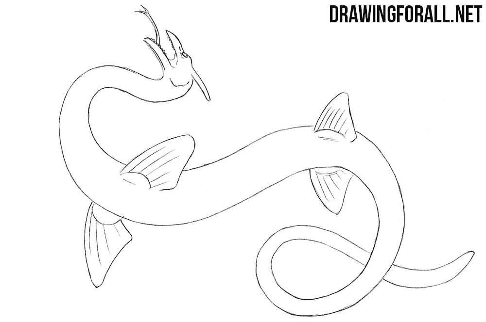 Sea Serpent drawing tutorial