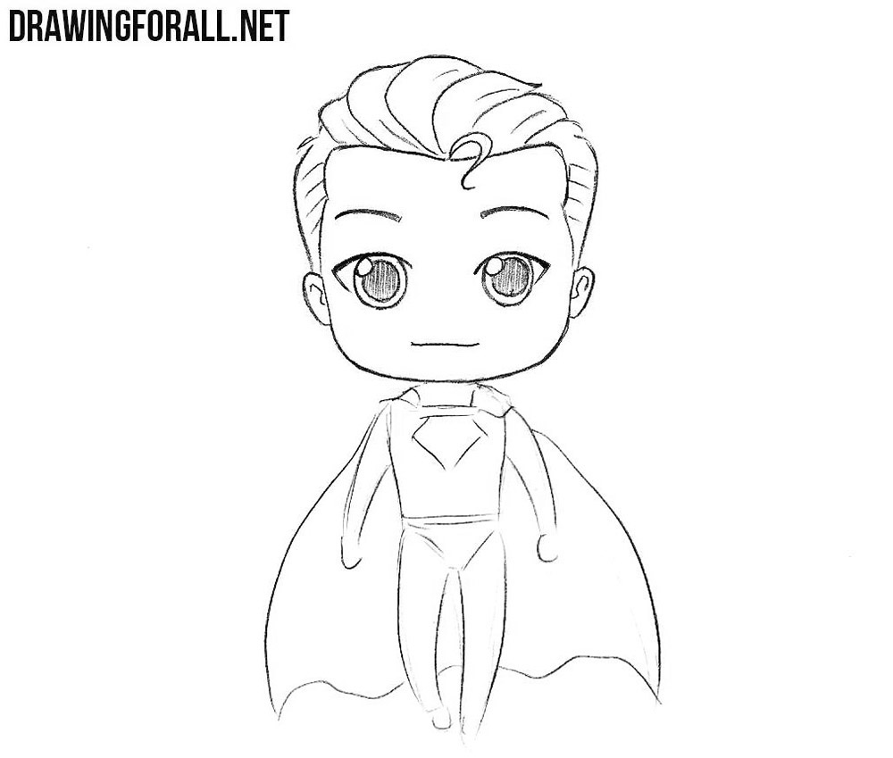 How to Draw Chibi Superman | Drawingforall.net