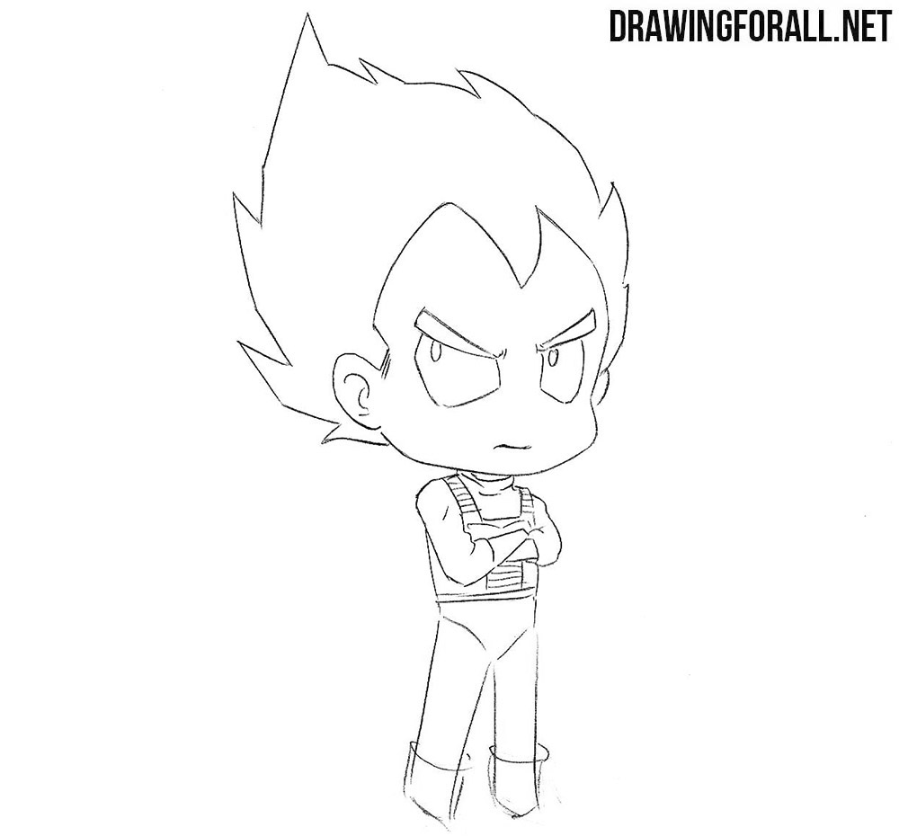 Chibi Vegeta drawing tutorial