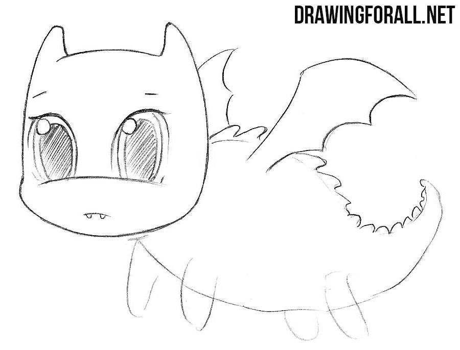 Chibi dragon drawingtutorial