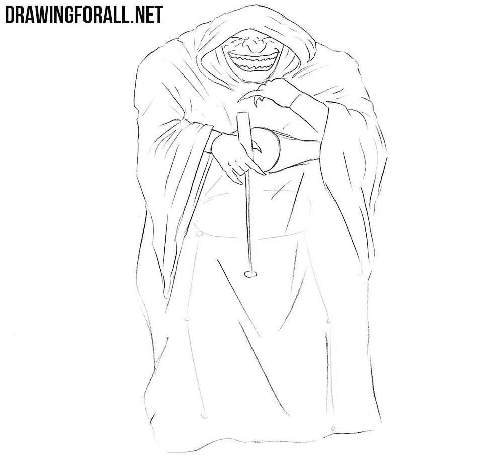 Comic Book Villain drawing tutorial