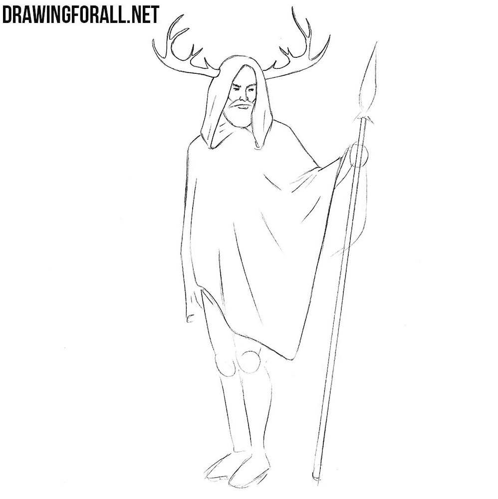 Herne the Hunter drawing lesson